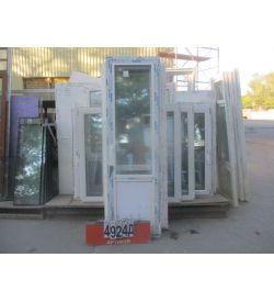 Двери ПВХ БУ 2280 (в) х 690 (ш)