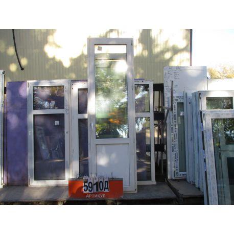 Двери Балконные ПВХ Б/У 2420 (в) х 730 (ш)
