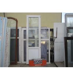 Двери Балконные Пластиковые БУ 2390 (в) х 700 (ш)