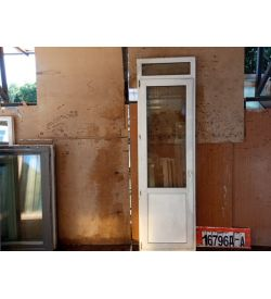 Двери Пластиковые БУ 2560(в) х 760(ш) Балконные