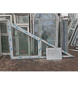 Пластиковые Окна 1390(в) х 2400(ш) VEKA Треугольные