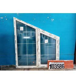 Пластиковые Окна 1480(в) х 1300(ш) REHAU Трапециевидные