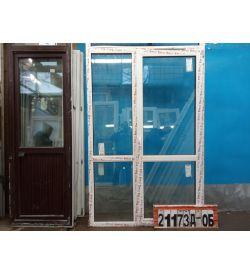 Пластиковые Двери Б/У 2130(в) х 1380(ш) Балконные KBE Неликвид