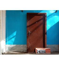Двери Металлические Б/У 2050(в) х 950(ш) Входные