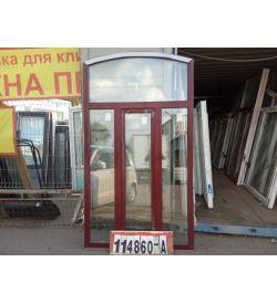 Пластиковые Окна БУ 2370(в) х 1330(ш) Арочные