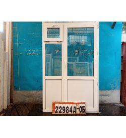 Двери Пластиковые Б/У 2070(в) х 1290(ш) Балконные Неликвид