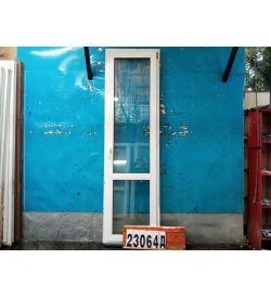 Пластиковые Двери Б/У 2480(в) х 710(ш) Балконные
