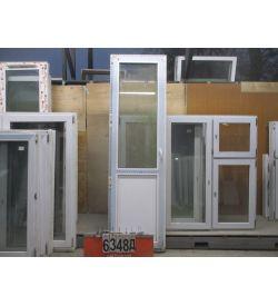 Пластиковые Двери Балконные Б/У 2370 (в) х 690 (ш)