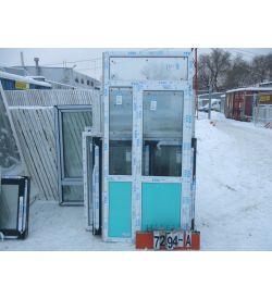 Двери Балконные Пластиковые 2450 (в) х 1100 (ш)