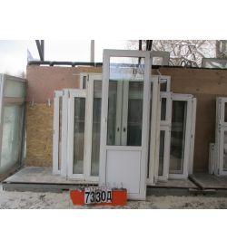 Пластиковые Двери Балконные Б/У 2200 (в) х 700 (ш)