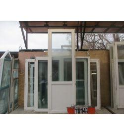 Пластиковые Двери Балконные Б/У 2520 (в) х 820 (ш)