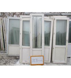 Пластиковые Двери Балконные Б/У 2370 (в) х 660 (ш)