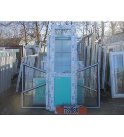 Двери ВЕКА Балконные Пластиковые БУ 2340 (в) х 690 (ш)