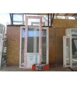 Двери Балконные Б/У Пластиковые 2400 (в) х 760 (ш)