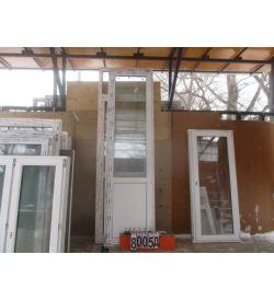 Пластиковые Двери Балконные БУ 2630 (в) х 700 (ш)