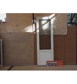 Пластиковые Двери БУ 2220(в) х 750(ш) Балконные